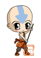 Aang Chibi by IcyPanther1