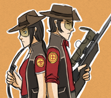 TF2- Sniper bro and sis by kakaleng1