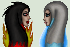 Firey and Watey headshot (gift) by Donna-Rayna
