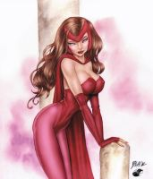 Deacon Black's Scarlet Witch - Colors by StacyRaven