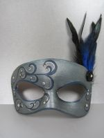 Blue Masquerade Mask by maskedzone