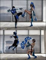 MK sub vs Kitana  by LeonChiroCosplayArt