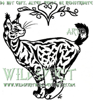 Serval's Heart Tattoo Commish by WildSpiritWolf