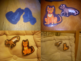 cat and rat badges by mechanicalmasochist