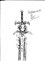 World of Warcraft Sketches 02 Frostmourne by TheGenericWolf