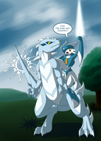 Shining Knight and her Dragon by ShadowScarKnight