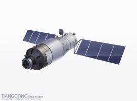 TIANGOONG Space station by skafan