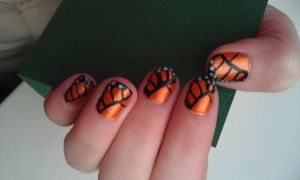 butterfly nails by ras-blackfire