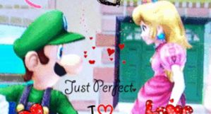 Luigi a Peach gif by agentbananayum