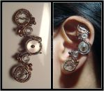 Balance Wheel ear cuff by Meowchee
