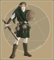 Zelda: Link the Scotsman by animetayl
