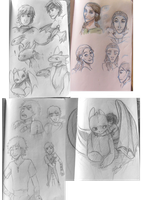 Httyd2 doodles batch by Marine-chan
