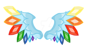 Commission Cutie Mark Diament Wings by DelLyra