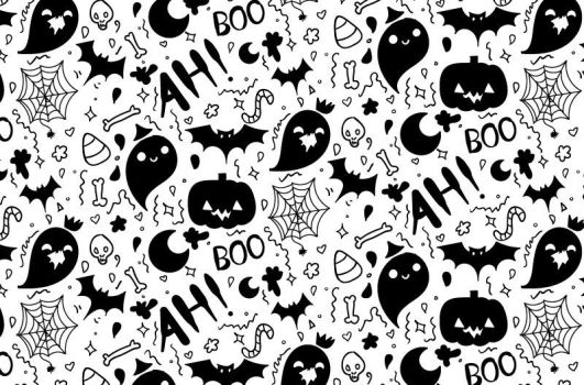 Tutorial: Hand Drawn Halloween Pattern by marywinkler