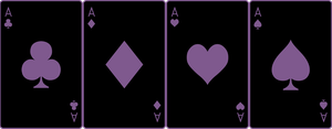 Ace Deck 28: Black+Violet by Galadnilien