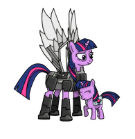 Future Twilight and Little Filly Twilight by EqGBassKick