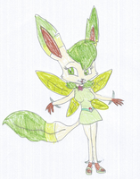 Heather the Leafeon Anthro by KendraTheShinyEevee