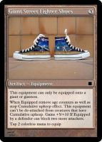 Giant Street fighter Shoes by OmegaHawke