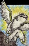ACEO Flying Shayde by ElectricSilence
