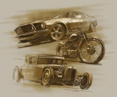 Car show art by FutureElements