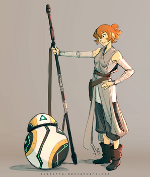 Katie Rey Holt and BB-Rover by SolKorra