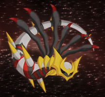 Ghost dragon:Giratina by Elsdrake