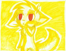 Yellow Wolf by RedNoctali