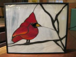 Winter Cardinal by SequentialGlass