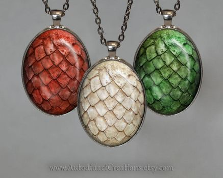 Game of Thrones Dragon Egg Set by wizardcopy