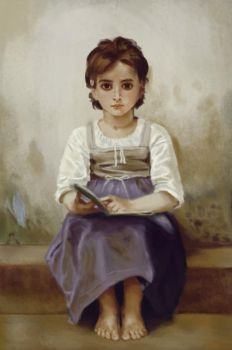 Study of Bouguereau 's 'The Difficult Lesson ' by doczal