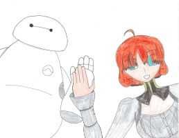Baymax and Penny by WarriorNun