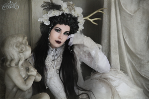 Death in silk and lace by xxMademoiselleKarma
