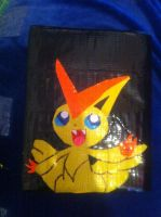 Duct Tape Wallet : Victini by areica