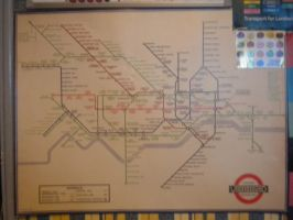 Old London Tube Map by CooroSnowFox