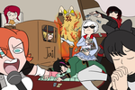 Monopoly Night at Team RWBY by KoikoPunk-Unded