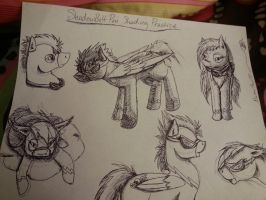 ShadowBolt Pen Sketching by ScarletsFeed