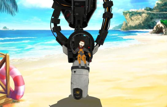 Freeman Makes A Photo With GLaDOS by BarberryGarden