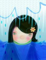 Rain- Lillyfly06 by childrensillustrator