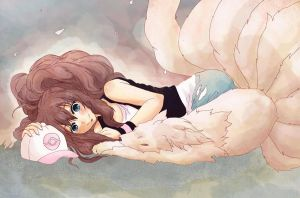 - Touko and Ninetales - by xLumina