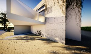 Octane Render Stone House Design 03 by str9led