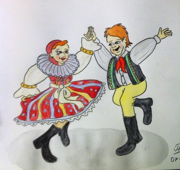 Folk Costumes of Slovakia and Czech Republic by Drawing-Count