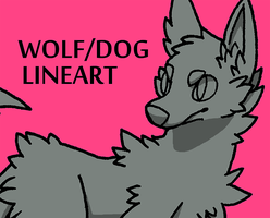 20 Point Wolf/Dog Lineart by Kaweki