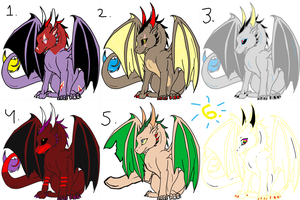 Free Dragon Adoptables by creativedestitute