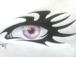 Eye and tribal by Lechadias