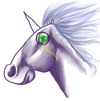 Majestic Sir Winston Self Portrait of Unicornia by Crickatoo