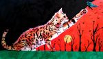 Bengal Cat Ink Painting by desiangel1