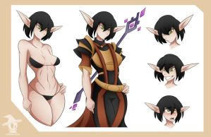 Sif Character Sheet by Obhan