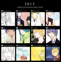 2013 Art Summary by getsuuu
