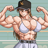 Muscle baseball girl by RENtb