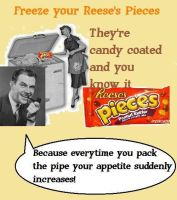 mc chris Reese's Pieces Old Ad by Enlightenup23